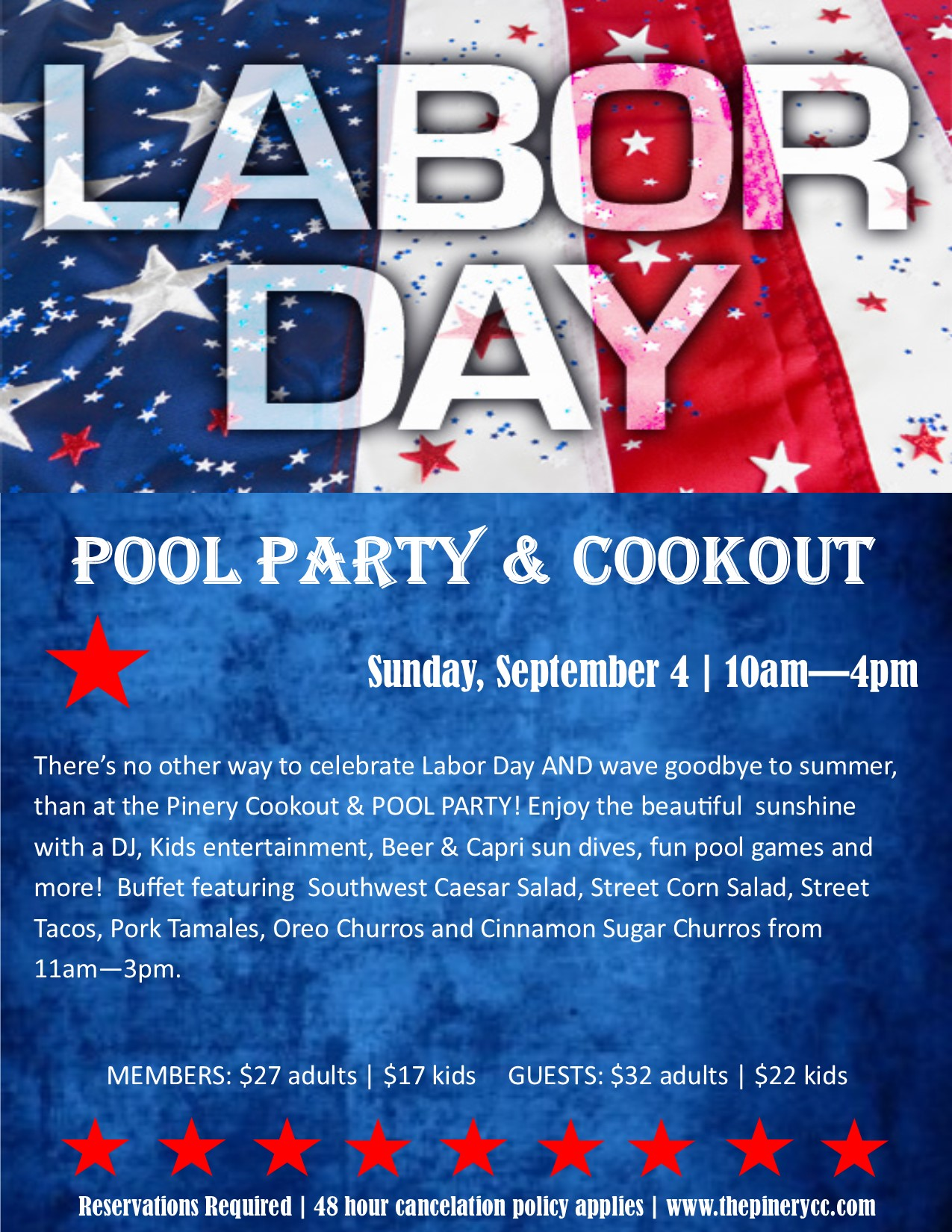 Labor Day Pool Party